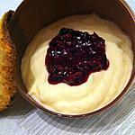 recette Mousse au chocolat blanc et compotée de framboises