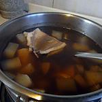 recette Poisson poché dans un consommé de daikon