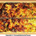 recette Tarte pimentée au chorizo, poireaux et tomates