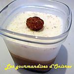 recette panna cota vanille, chocolat base yaourts