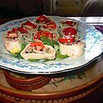 recette wrap  saumon fumé, crudités  de la cuillére   aux  mille délices