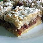 recette Gâteau sablé à la rhubarbe et crumble