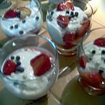 recette verrines fraises fromage blanc