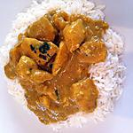 recette Curry de poulet korma