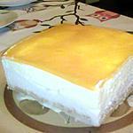recette entremet coco et fruits jaune