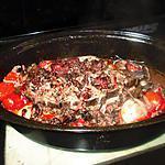 recette roti cotes  d agneau  champignons  chorizo