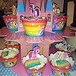 recette Château My little pony cupcakes framboise arc en ciel