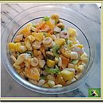 recette Salade sucrée hivernale : ananas, litchi, kiwi, banane, orange, pomme, poire