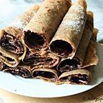 recette Crêpes à la châtaigne, sans oeufs, gluten, lait, fourrées au chocolat