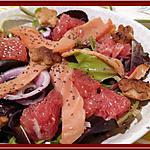 recette Salade de truite fumée et Pamplemousse