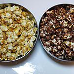 recette Pop corn caramel VS pop corn chocolat