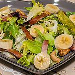 recette Salade de bananes, bacon et noix de cajou