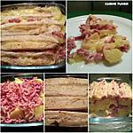 recette Pdt lardons fumés gratinés au camembert/fromage pour raclette..