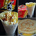recette CREPE CINEMA : CHANTILLY, POP CORN ET CARAMEL