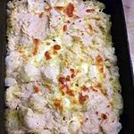 recette Gratin de pâtes au chou-fleur