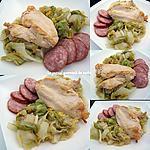 recette Poulet braisé au chou et à la Montbéliard