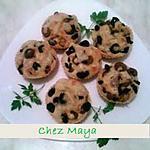 recette muffins salées aux olives , gruyère et merguez