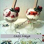 recette Verrines de fraises au yaourt
