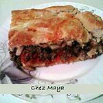 recette Focaccia au bœuf , tomates aromatisées et frites panées