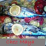 recette Maquereaux au four sur lit de légumes
