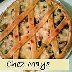 recette tarte aux champignons de Paris
