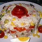 recette salade de riz sauce au anchois