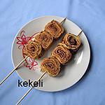 recette Brochette de crêpes aux châtaignes