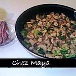 recette Champignons de Paris à la Monégasque