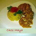 recette Poulet au curry d'Eglantine