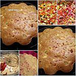 recette Cake salé courgette-poivron-tomate séchée-feta