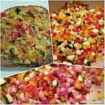 recette tartine recouverte de reste de poivron-courgette-oignon