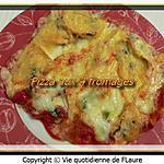 recette Pizza aux 4 fromages