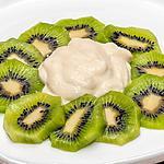 recette Carpaccio de kiwis à la mousse aux pommes