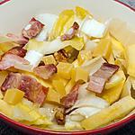 recette Salade d'endives aux lardons, pommes, emmental et noix