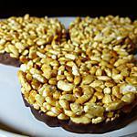 recette Galettes de riz soufflé caramélisées au chocolat