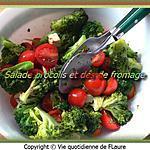 recette Salade brocolis et dés de fromage