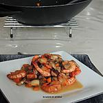 recette Mélange forestier aux crevettes flambées au Cognac
