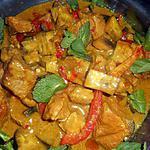 recette Sauté de porc au curry thai