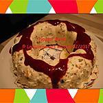 recette Nougat Glacé aux Fruits confits et son coulis de Framboises