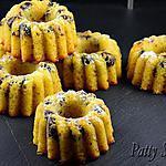 recette Mini Bundt Cakes au Pamplemousse et Airelles