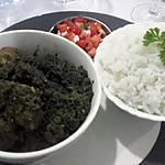 recette Ravitoto (feuilles de manioc hachées et viande)