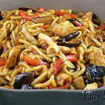 recette Nouilles Udon – Poulet et Légumes Sautés