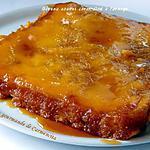 recette Gâteau à l'ananas caramélisé à l'orange