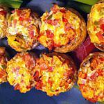 recette Champignons farcis bacon/oignon/poivrons