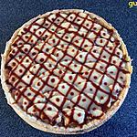 recette tarte compote de pommes et pommes en garniture sirop d'érable et caramel beurre salé