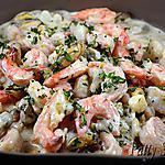 recette Crevettes et petits fruits de mer, sauce crémeuse à l'estragon