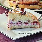 recette Gâteau rapide framboises mascarpone