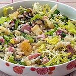 recette Salade de riz au jambon, kiwi, ananas et petits pois