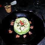 recette Composée d'avocat  & crevette/surimi