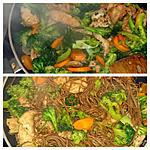 recette Poulet chop suey et nouilles soba